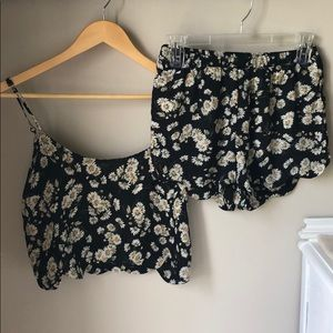Cropped top two piece